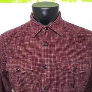 LL Bean Flannel Button Front Long Sleeve Shirt
